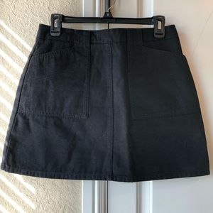 Black A Line Urban Outfitters Jean Mini Skirt